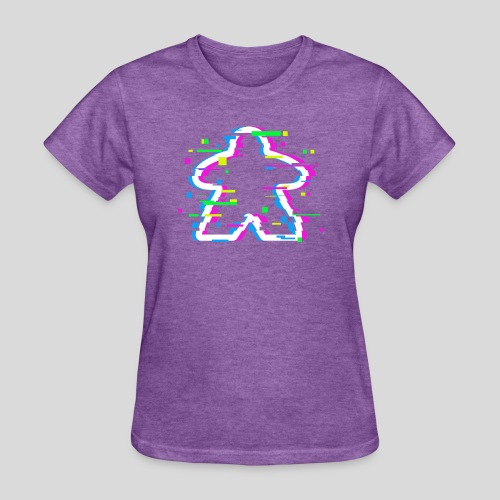 Glitched Meeple - Women's T-Shirt