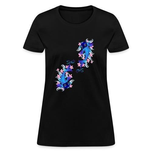 Two Blue Koi - Women's T-Shirt