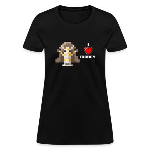 Time Goddess - I HEART Money (White text) - Women's T-Shirt
