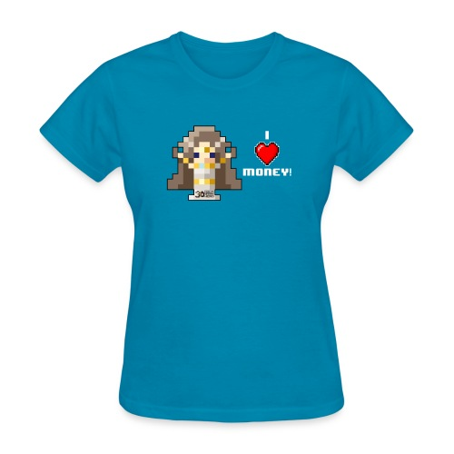 Time Goddess - I HEART Money (White text) - Women's T-Shirt