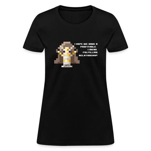 Time Goddess - Profitable Relationship (White txt) - Women's T-Shirt
