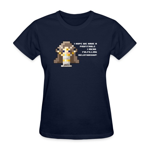 Time Goddess - Profitable Relationship (White txt) - Women's T-Shirt