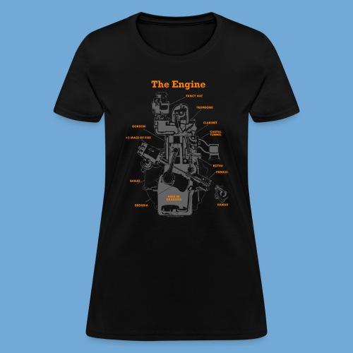 Engine Diagram - Women's T-Shirt