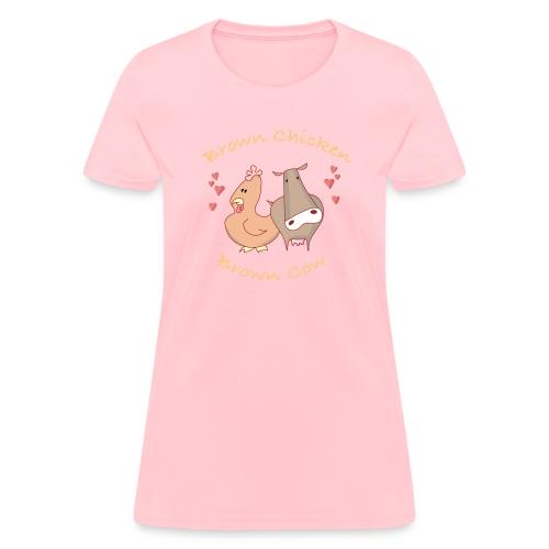 brownchikbrowncow trns - Women's T-Shirt