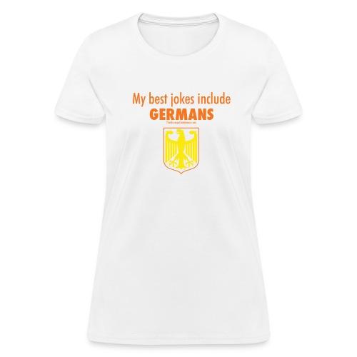 16 Germans colored lettering - Women's T-Shirt