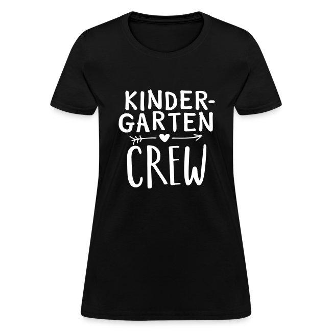 Kindergarten Crew Heart Arrow Teacher T-Shirts