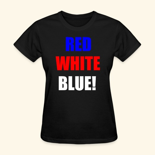 red white blue OCD - Women's T-Shirt