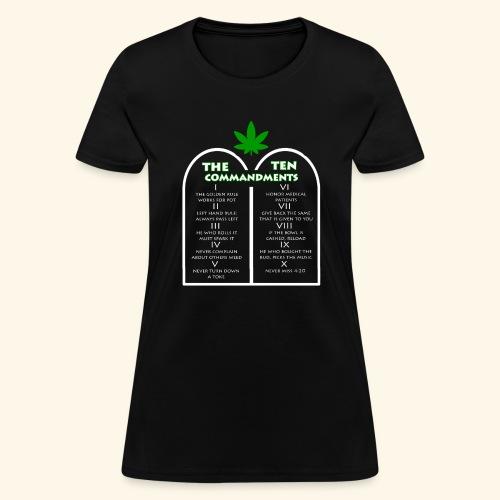 The Ten Commandments of cannabis - Women's T-Shirt