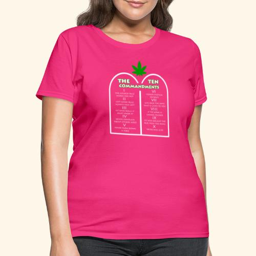 The Ten Commandments of cannabis - Women's T-Shirt