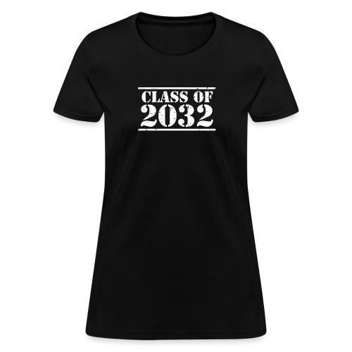 Class of 2032 Kindergarten Grad distressed logo - Women's T-Shirt