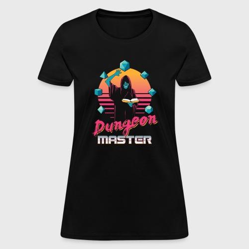 dungeon master outrun neon fantasy gift shirt - Women's T-Shirt