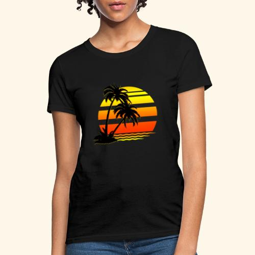 Summer Surfer California Sunset - Women's T-Shirt