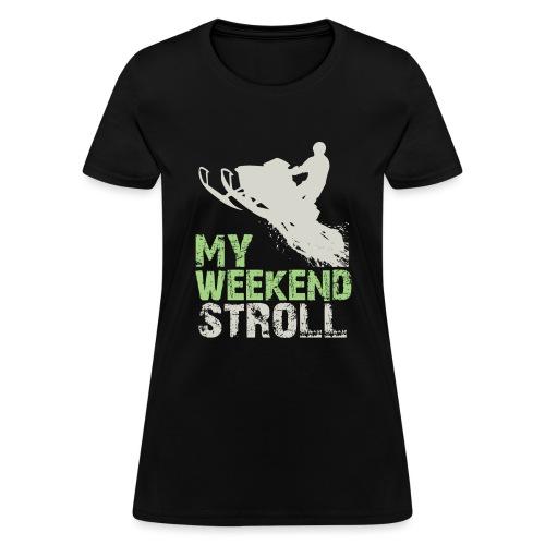 Snowmobile Weekend Stroll - Women's T-Shirt