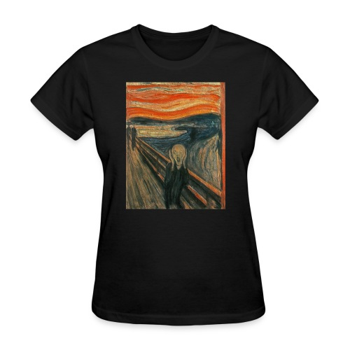 The Scream (Textured) by Edvard Munch - Women's T-Shirt