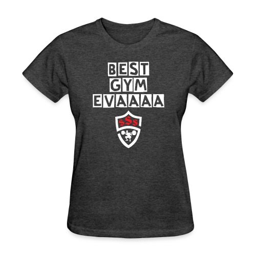 Best Gym Evaaa White and Red - Women's T-Shirt