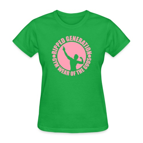 Ripped Generation Gym Wear of the Gods Badge Logo - Women's T-Shirt