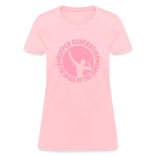 Ripped Generation Gym Wear of the Gods Badge Logo - Women's T-Shirt
