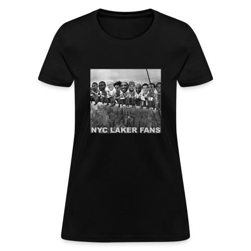 newyorkconstructionworkers text - Women's T-Shirt