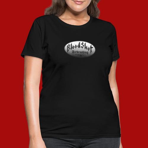 BloodShot Airbrushing Logo - Women's T-Shirt