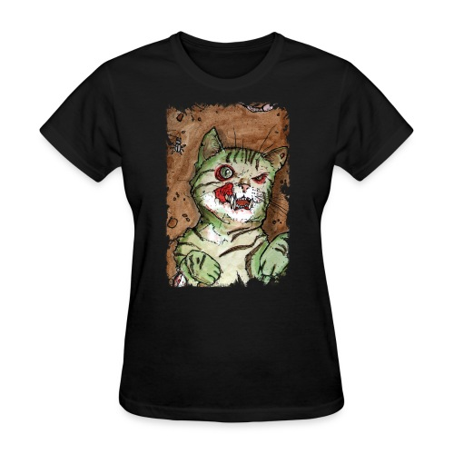 zombie kitten 1 - Women's T-Shirt