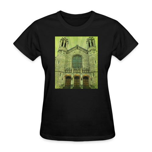 Green gothic cathedral - Women's T-Shirt