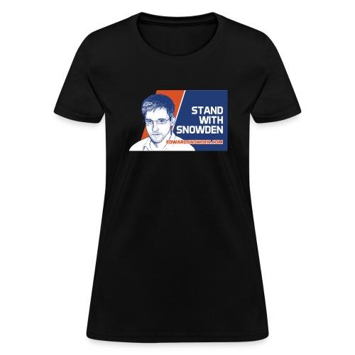 6697837 116322837 standwithsnowden01 ori - Women's T-Shirt