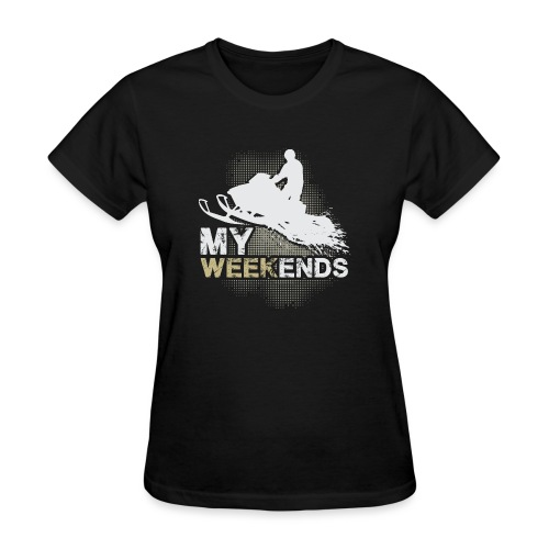 Snowmobile My Weekends - Women's T-Shirt