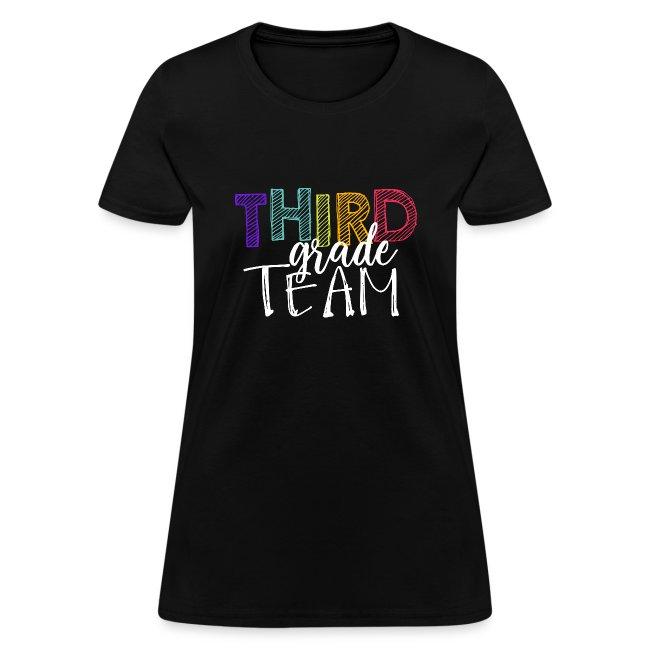 Third Grade Team Grade Level Team Teacher T-Shirts