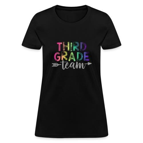Third Grade Team Teacher T-Shirts Rainbow - Women's T-Shirt