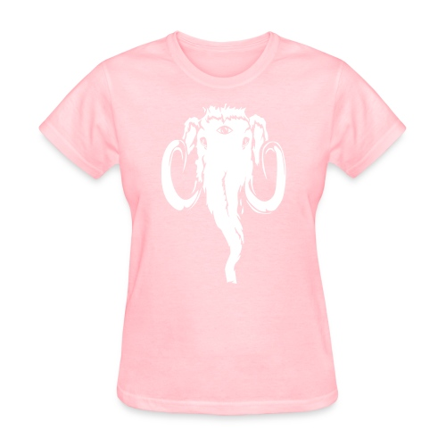 Just Mammoth white on transparent png - Women's T-Shirt