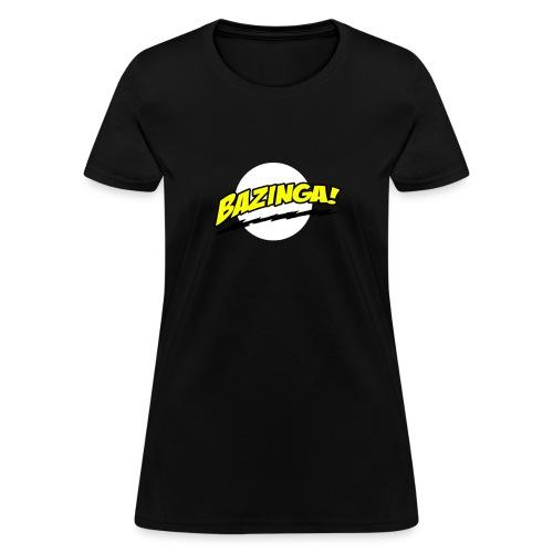 bazinga bolt yellow - Women's T-Shirt