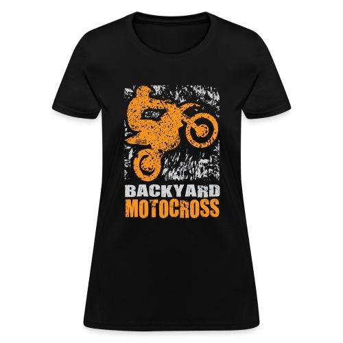 Motocross Backyard Orange - Women's T-Shirt