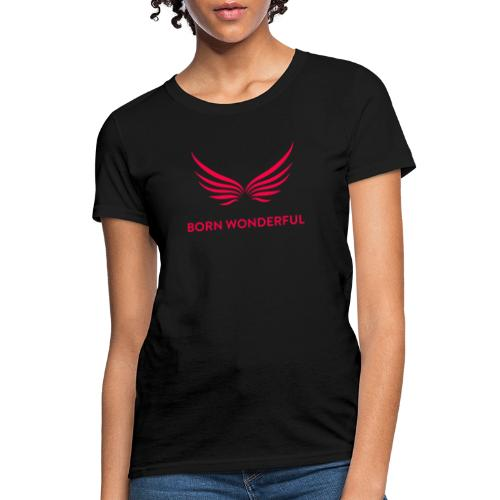 Red Born Wonderful Logo - Women's T-Shirt