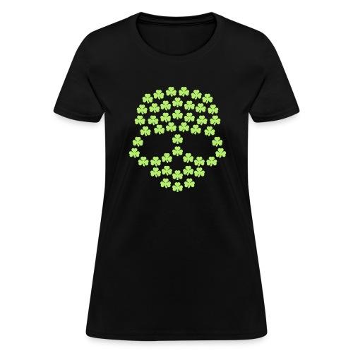 Shamrocks Skull - Women's T-Shirt