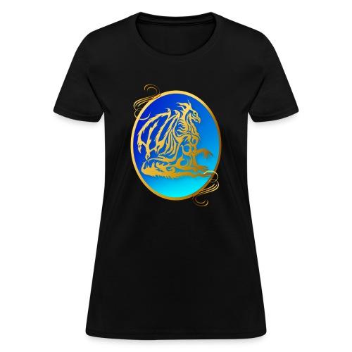 Gold Dragon 3 Oval - Women's T-Shirt