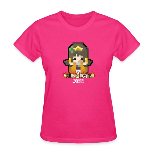 Princess ME v EVIL (White logo) - Women's T-Shirt