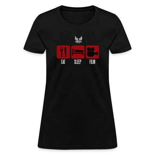eat sleep film png - Women's T-Shirt