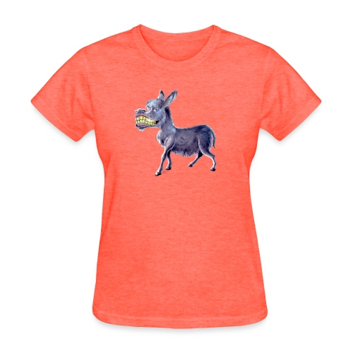 Funny Keep Smiling Donkey - Women's T-Shirt