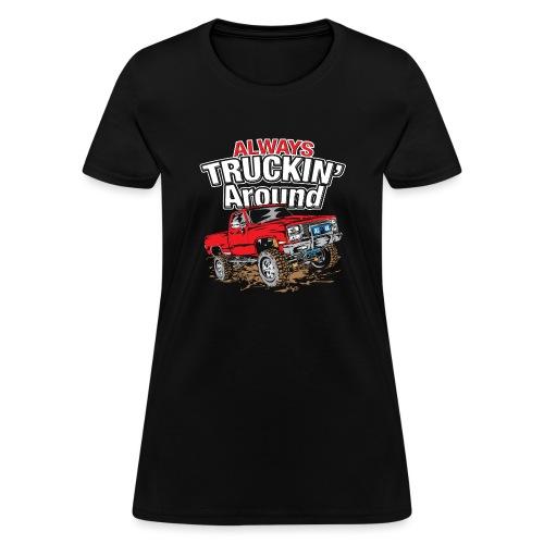 Chevy Truckin Around Red - Women's T-Shirt