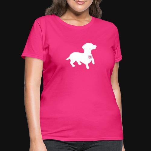 Dachshund silhouette white - Women's T-Shirt