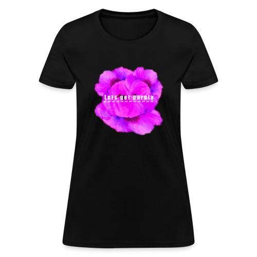 lets_get_purple_2 - Women's T-Shirt