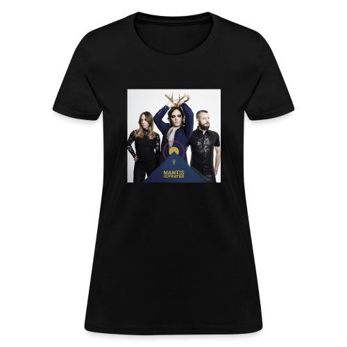 Mantis and the Prayer- Pyramid Design for kids - Women's T-Shirt