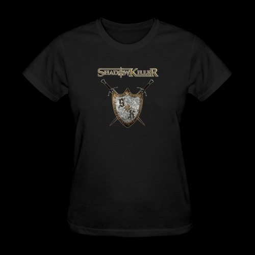 sk golden shield with band logo - Women's T-Shirt