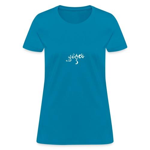 YOGA white fancy - Women's T-Shirt