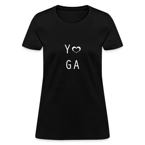 Yoga Heart Design - Women's T-Shirt