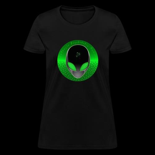Psychedelic Alien Dolphin Green Cetacean Inspired - Women's T-Shirt