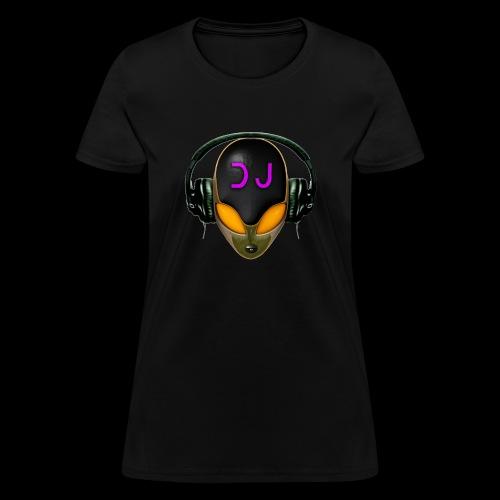 Alien DJ - Orange - Hard Shell Bug - Women's T-Shirt