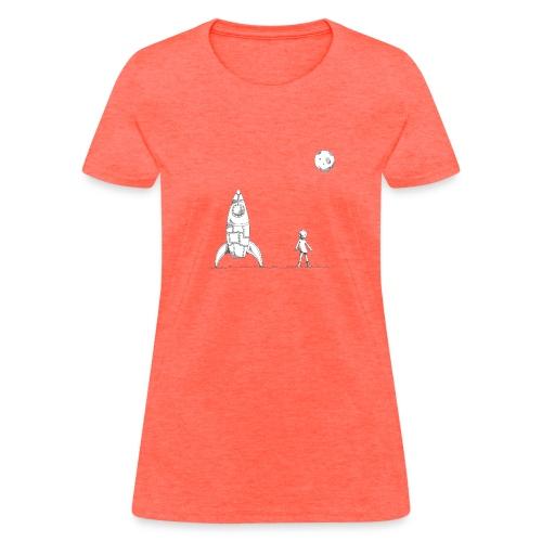 rocket to the moon - Women's T-Shirt