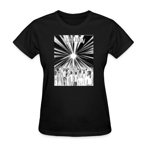 Black_and_White_Vision - Women's T-Shirt
