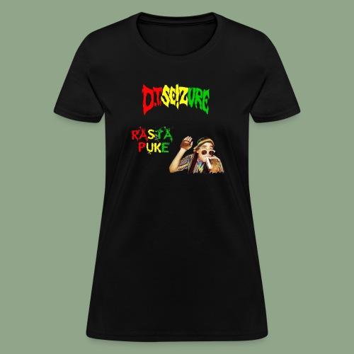 D.T. Seizure - Rasta Puke T-Shirt - Women's T-Shirt